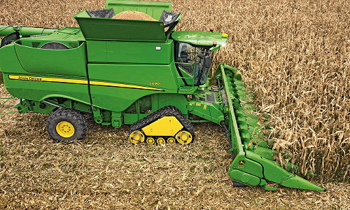 John Deere has developed its own track system for the S Series ...