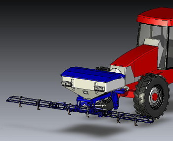 Horstine: Front-mounted boom for AirStream applicator