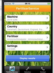 Amazone: Fertiliser app for iPhone and Android