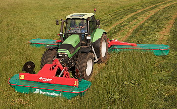 Kverneland: 5087M triple mower has low power requirement