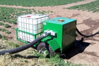 Greencrop Irrigation: Applicator trailer for irrigating with Nemaslug