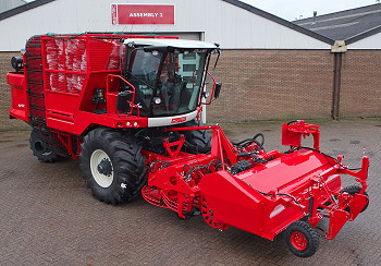 Agrifac: Restyled Quatro harvester on show