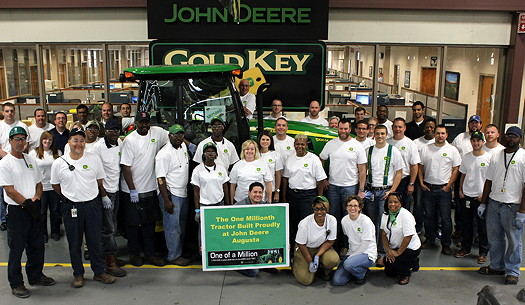 One millionth tractor built at Deere's Augusta plant