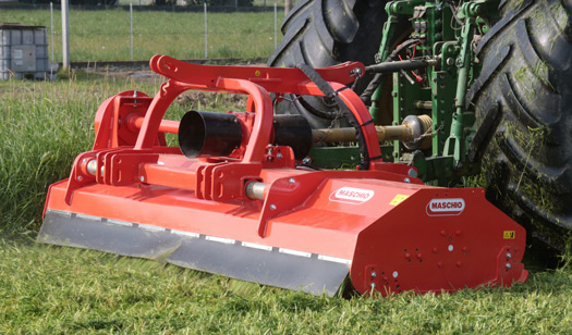 Maschio: Heavy-duty flail mower has flexibility to fit front or rear of tractor
