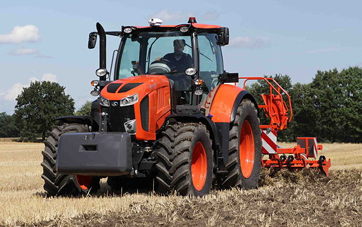 Kubota: M7001 tractor hot off the production line for Cereals 2015!