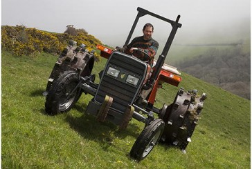 Tractors UK: Daredevil farmer tackles steep Cornish hills