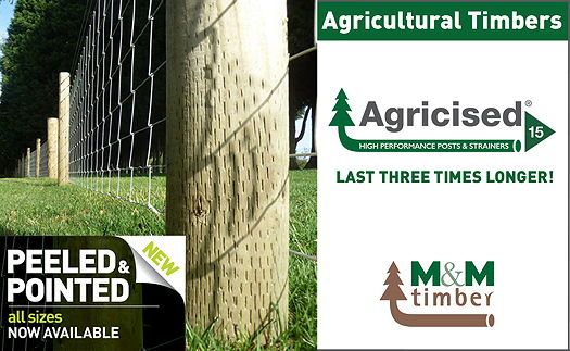 M&M Timber: Peeled and pointed post join Agricised range