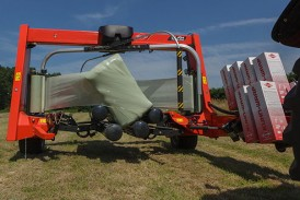 Kuhn Farm Machinery: Major updates to square and round bale wrapper