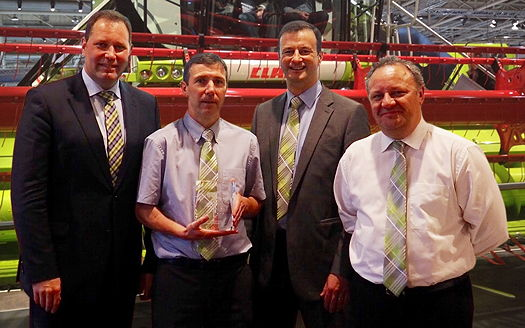 Claas UK dealer excellence rewarded