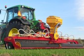 JC Machinery: Latest Agri Air Overseeder will be at Lamma 2016