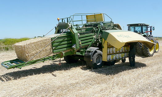 Standard twine storage on the latest Krone BiG Pack baler is 54.