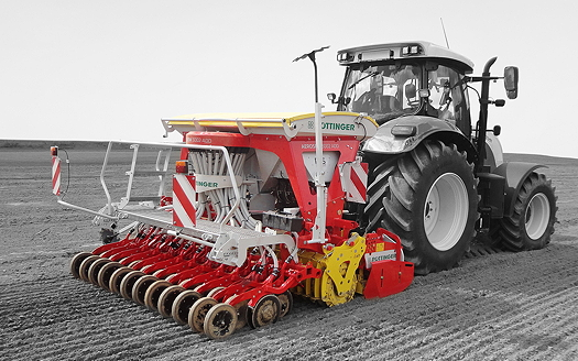Pöttinger: Aerosem PCS Duplex Seed drill plants maize in double rows