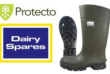 Dairy Spares: Lightweight wellington boots offer warmth, good grip and long life