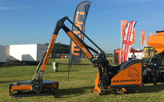 Mzuri: Self-levelling hedgecutter launched at Cereals 2017