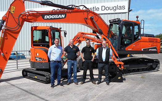 New Doosan dealer for Southern Scotland and Cumbria