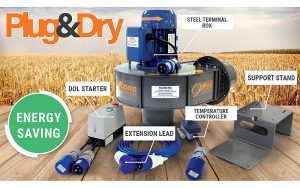 Gibbons Agricultural Fans: Plug&Dry grain store fan accessories launched