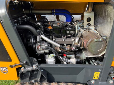 A Stage IV, three-cylinder, 40hp Yanmar engine powers the new Robocut2 RC40