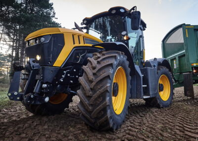 Thanks to a wider tyreprint and tread, BKT'ds Agrimax V-Flecto claims to guarantee reduced soil compaction
