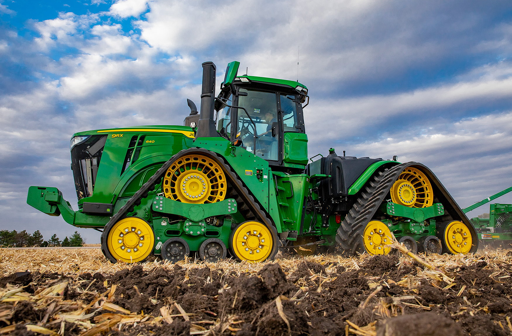 John Deere's flagship 2021 9RX640 offers up to 691hp.