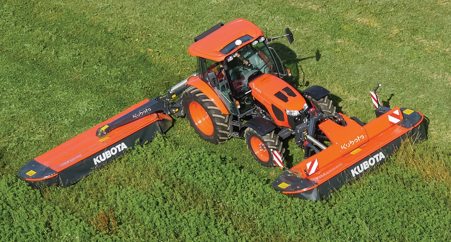 The Kubota M5002 Series is powered by the company's 3.8-litre, four-cylinder Stage V diesel using a DPF, DOC and SCR to meet the Stage V emissions standard.