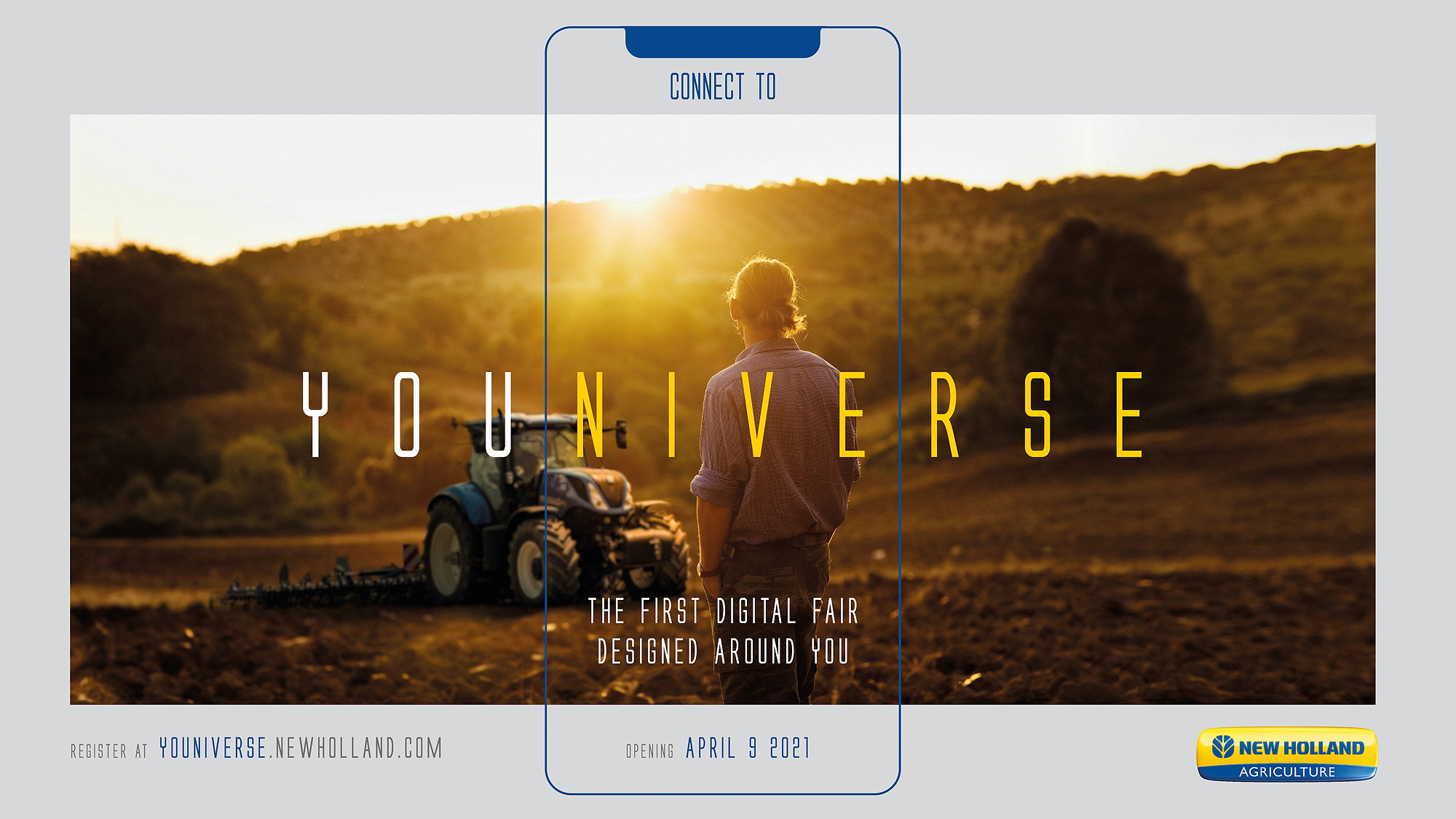 New Holland's Youniverse online fair begins in April 2021