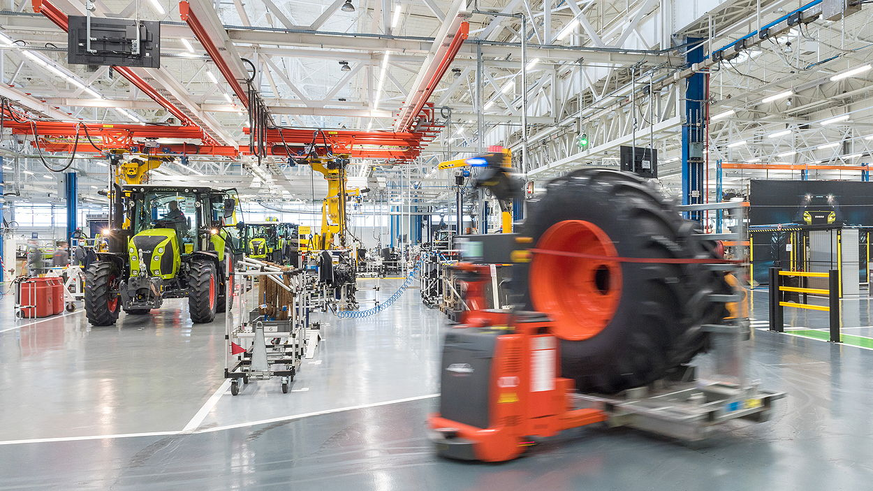 Claas' revamped plant at Le Mans will be able to assemble 13,000 tractors annually on a one-shift system
