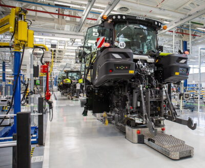 Five Claas tractor series from 75 to 460hp are currently produced at Le Mans