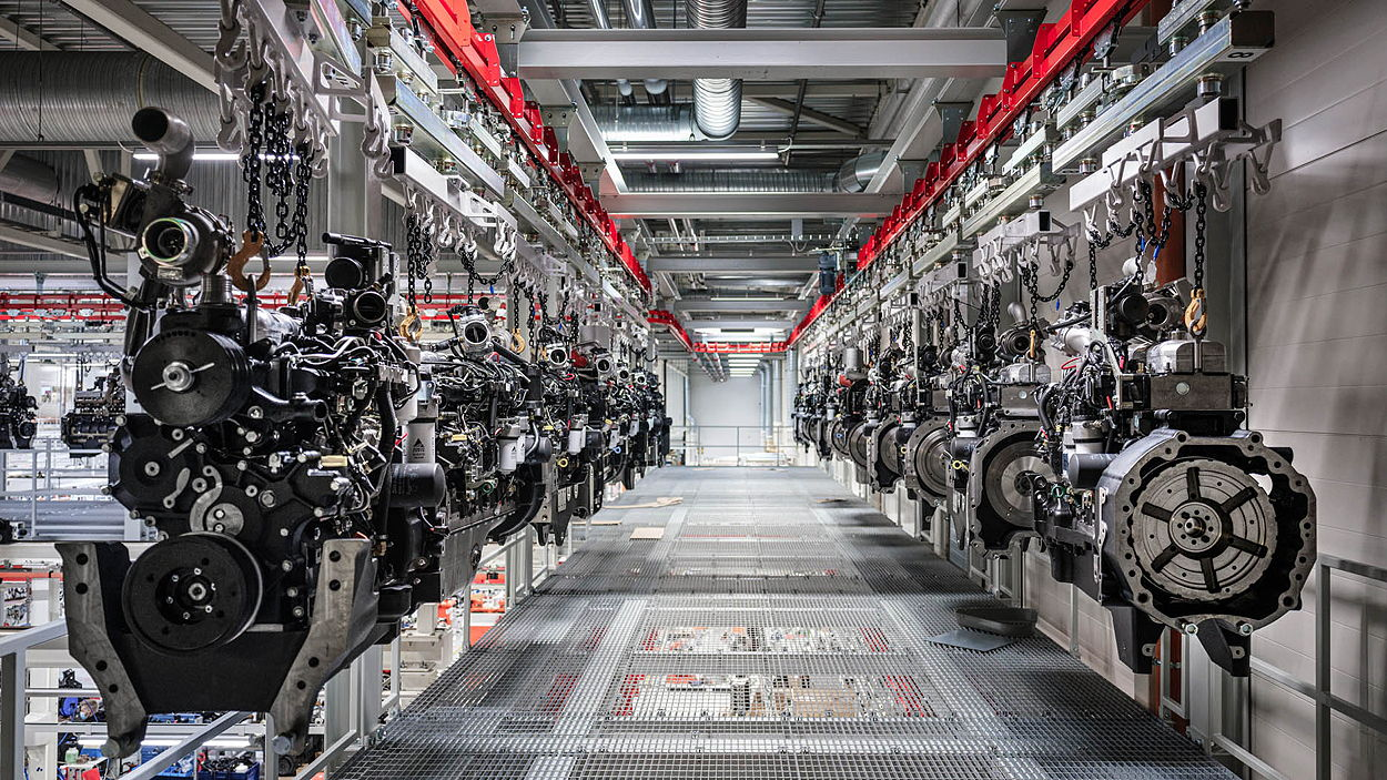 Agco has the capacity to build more than 100,000 engines every year