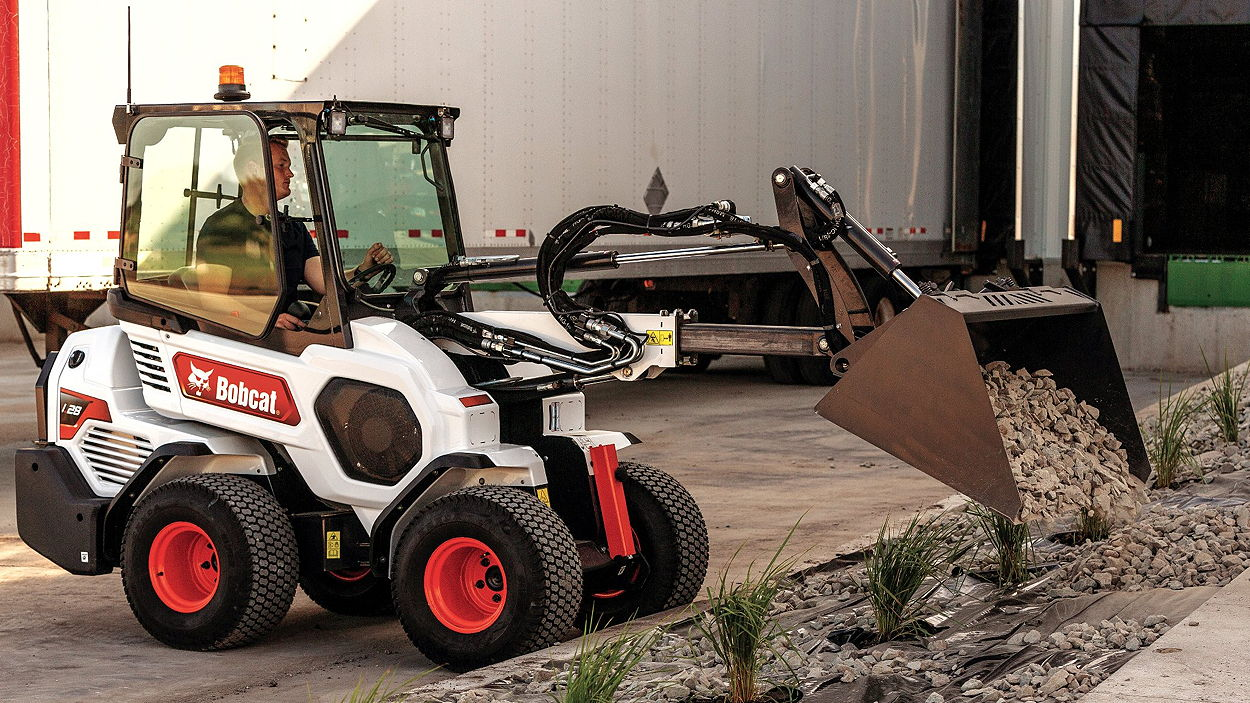 Bobcat's new L28 model is one of the company's two new smal articulated loaders