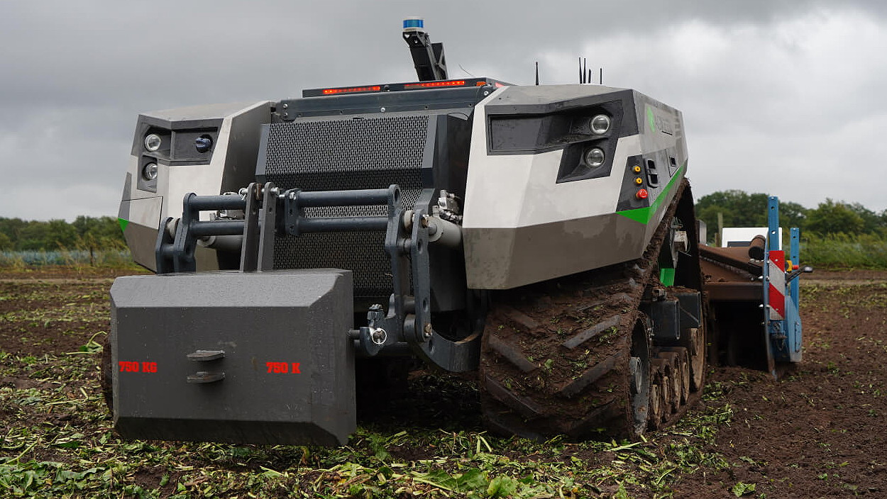 An AgBot prototype from Dutch start-up AgXeed