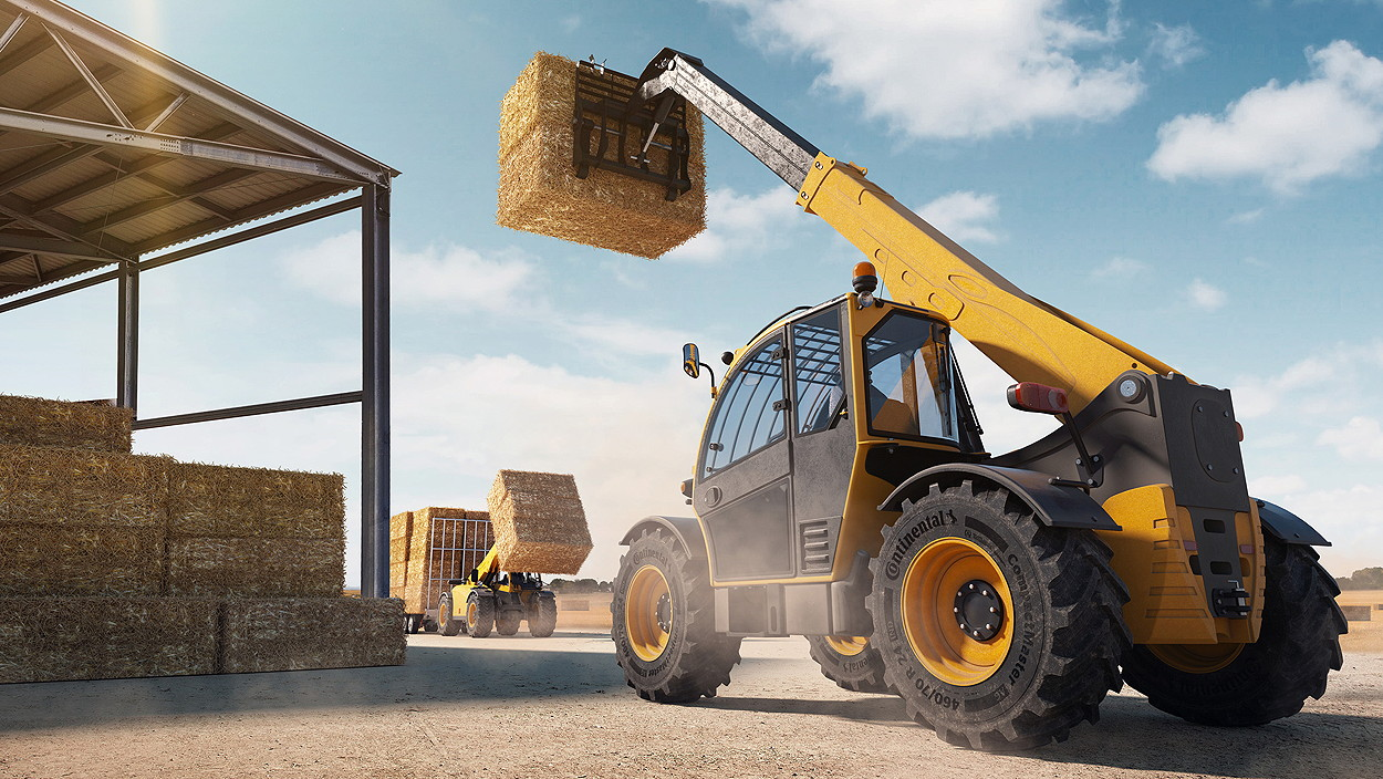 Continental has launched the CompactMaster AG, a new telehandler and skid-steer loader tyre