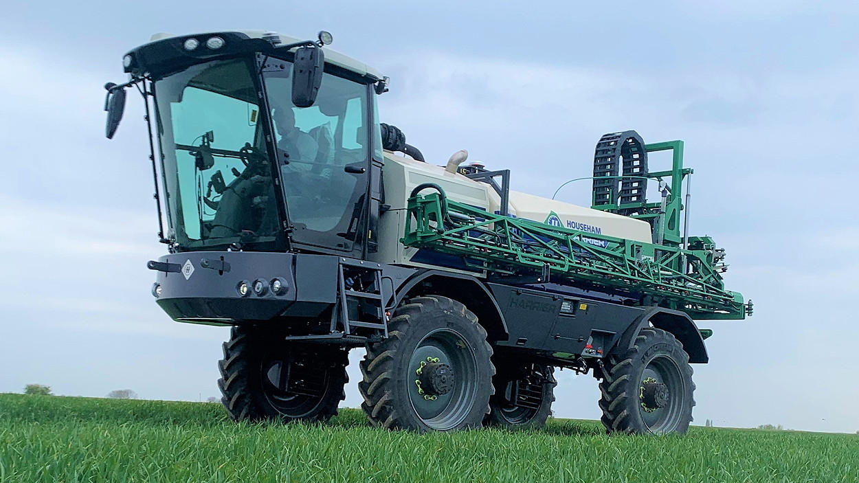 The X10 cab from Claas is now standard equipment on Househam's AirRide and Harrier sprayers