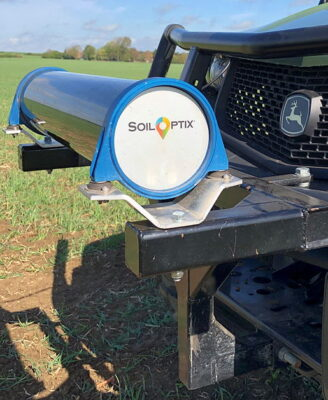 TerraMaps are created from sensor data and soil samples collected in the field