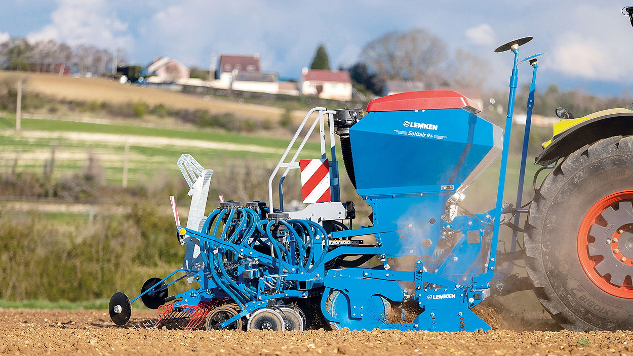Lemken's latest Solitair 9+ Duo offers seed and fertiliser placement