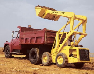 The L35 was New Holland's first skid-steer loader launched in 1971