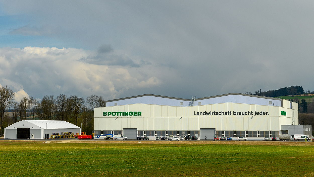 The new facility at St Georgen is Pöttinger's fourth production site