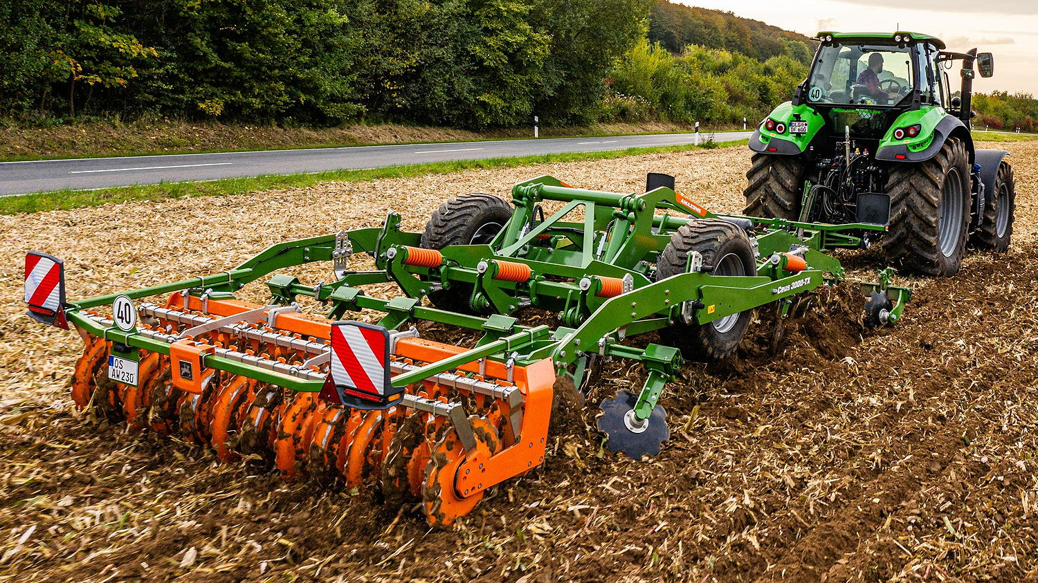 Amazone's Ceus offers precision and versatility on both stubble and primary soil tillage, deep loosening and seedbed preparation, especially where there are large quantities of organic matter