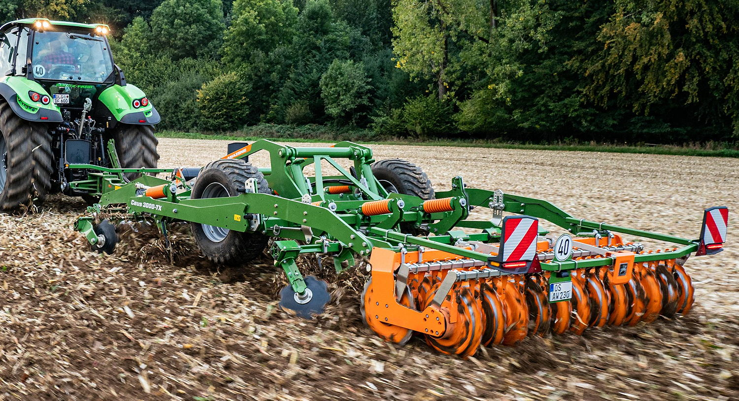 Amazone's Ceus has the ideal combination of tools for maintaining perfect field hygiene and leaving a finished seedbed in just one pass
