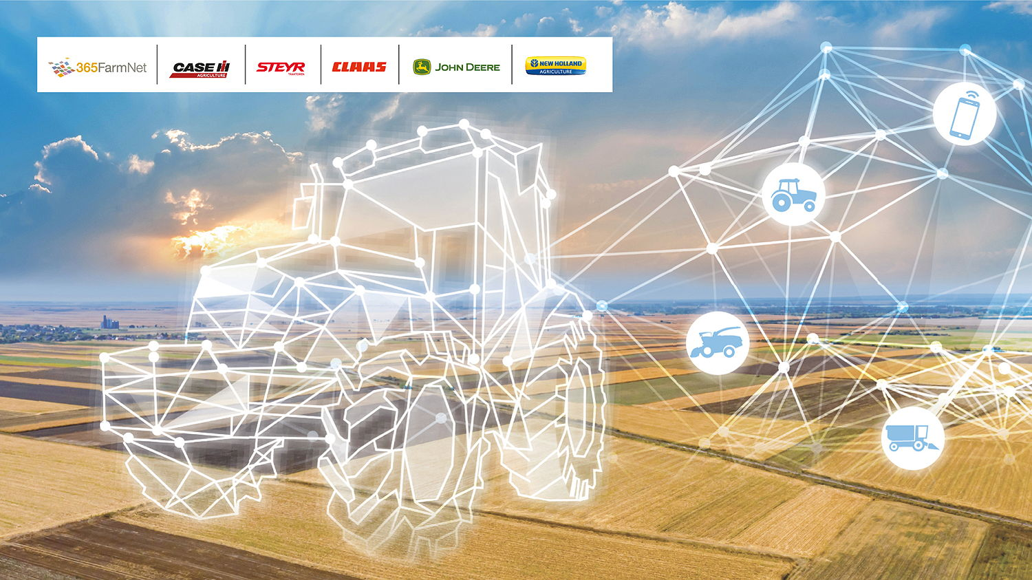 Case IH, Steyr and New Holland have now joined John Deere, Claas on the European farm management platform 365FarmNet