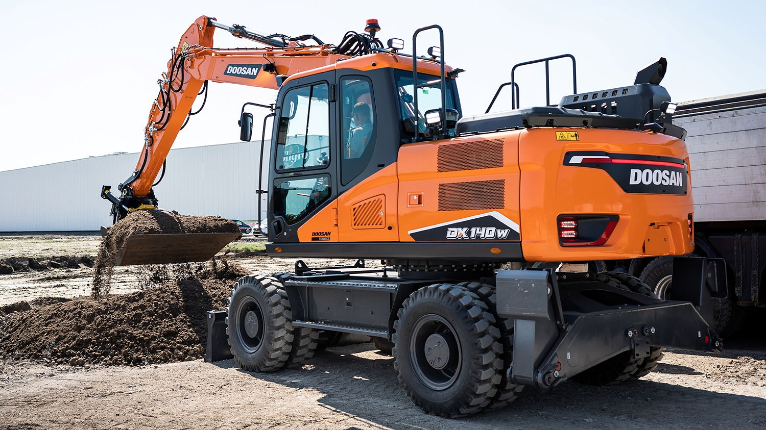 Doosan's 7-Series wheeled excavators feature Stage V engines and a range of new features