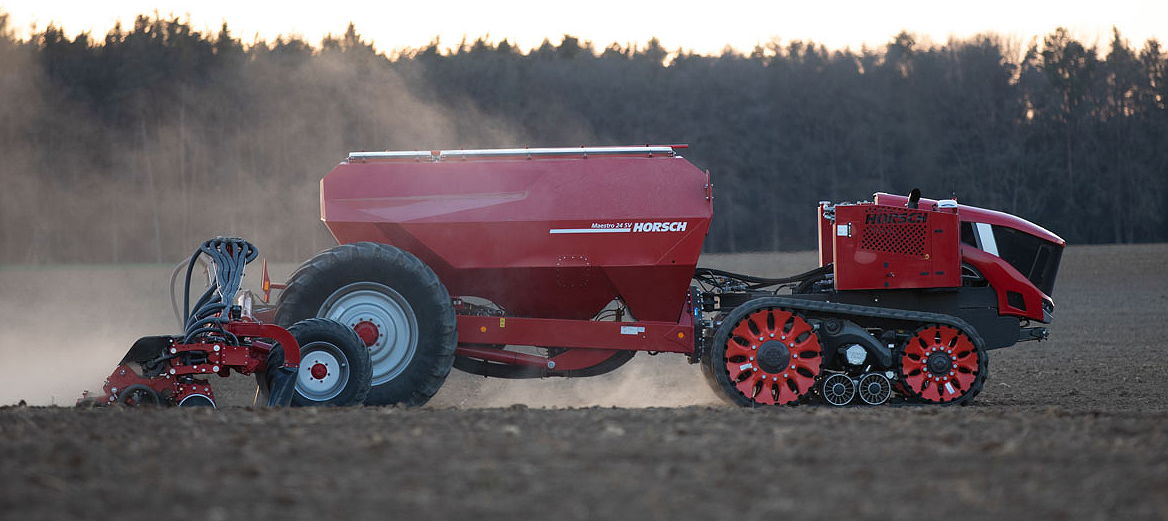 Horsch has been testing its Roboter tractor on its research and development farm in the Czech Republic
