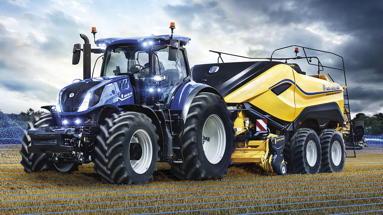The redesigned New Holland T7HD Horizon Ultra cab has further improved visibility to the front and down to the rear hitch and implement
