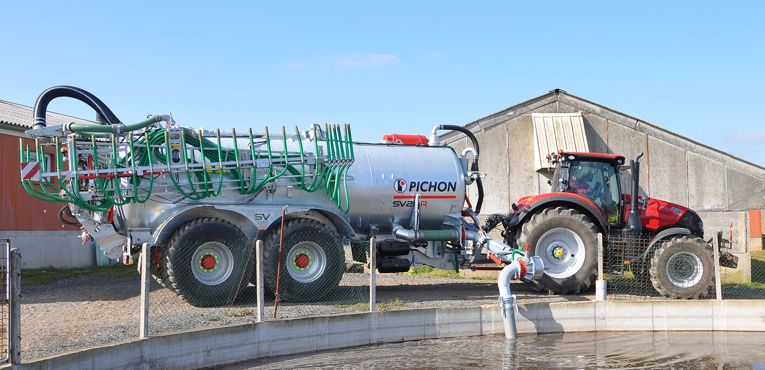 The SV series design can adapt to various spreading equipment including drip hose booms, trailing shoe booms and tine incorporators