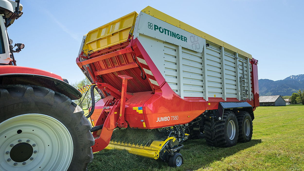 Pöttinger's new Jumbo 7380 loader wagon has been designed to deliver top-quality forage