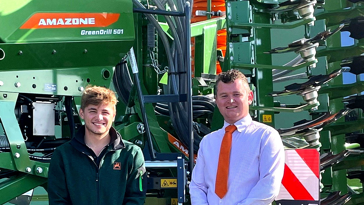 Josh Rodes (left) and Oliver Watson take up appointments at Amazone UK