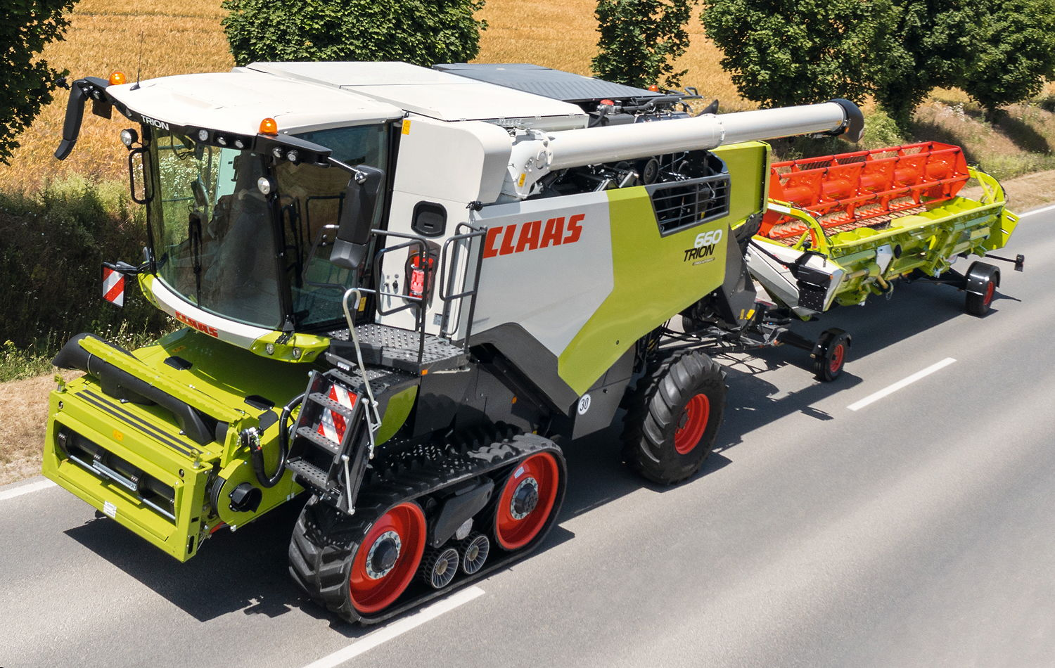An unprecedented six models in the new Claas Trion range are available with the Terra Trac system