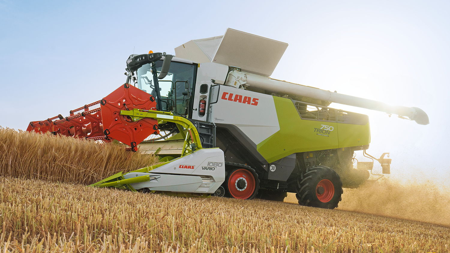 Claas' new flagship Trion 750 Terra Trac combine