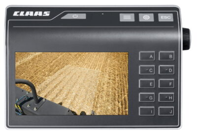 The optional Profi Cam 4 camera allows the driver to keep an eye on working areas such as the knotters, the bale chute or the entire area behind the tractor-baler combination