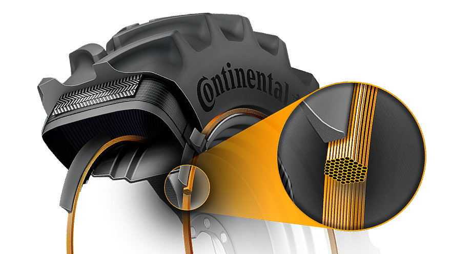 Continental has developed a stronger single bead with a hexagonal cross section