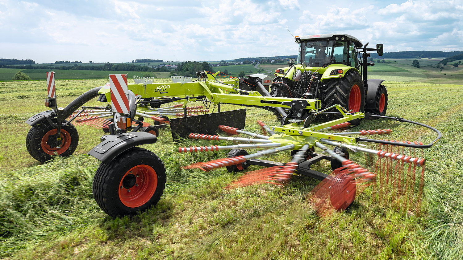 The Claas Liner 2700 Trend twin-rotor rake has been introduced for 2022